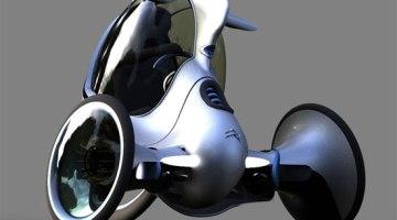 imagen del diseño de triciclo eléctrico Citroën Antistatic E-3pod