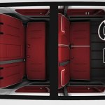 plano superior de la furgoneta Bulli de Volkswagen