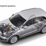 imágen transparent para apreciar el interior del sistema híbrido del Audi Q5 Hybrid quattro