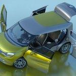 imagen superior de la Renault FRENDZY, con las puertas y portones abiertos