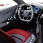 zona del conductor en el Ford Evos Concept