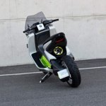 imagen trasera del scooter eléctrico BMW E Scooter Concept.