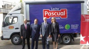 Calidad Pascual añade 13 camiones híbridos a su flota de reparto