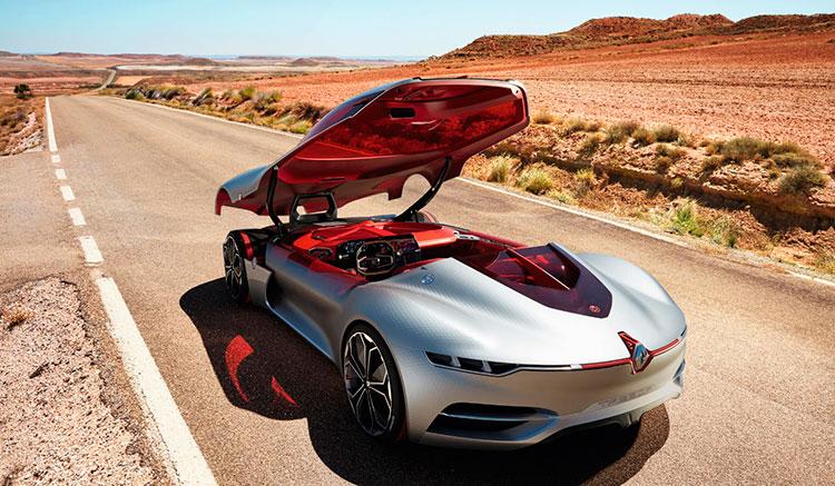 Imagen donde podemos ver cómo se eleva por completo el techo del Renault Trezor Concept.