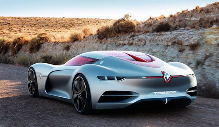 Imagen donde podremos apreciar el diseño de los pilotos traeros del Renault Trezor Concept, que sería de fibra óptica.