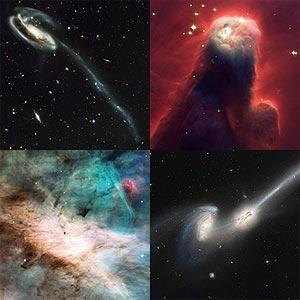 4 fotos tomadas por el grandioso telescopio espacial Hubble.