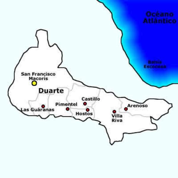 Resultado de imagen para san francisco de macoris mapa