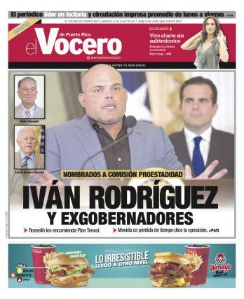 IVAN RODRIGUEZ COMO PORTADOR DE LA ESTADIDAD VOCERO