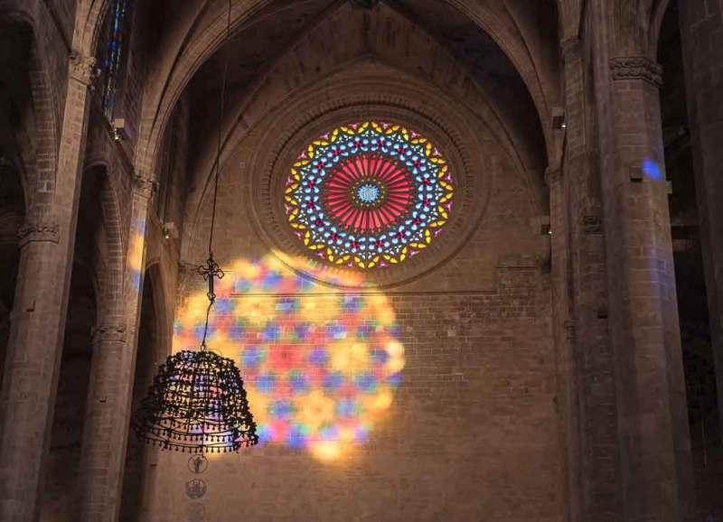fase intermedia  del vuit de la Seu en Mallorca, España