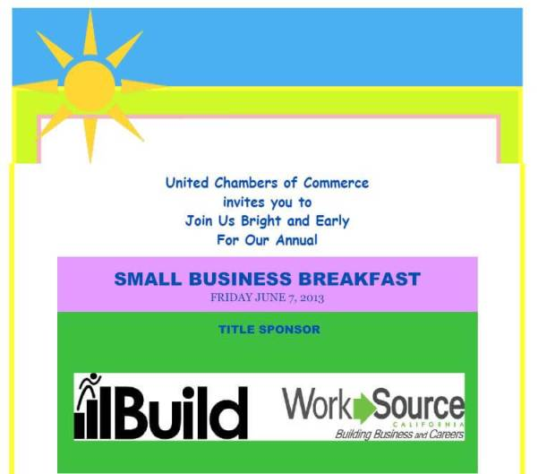 Small Business Breakfast flyer pg 1