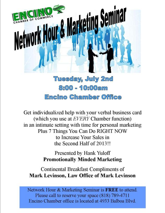 July Network Hour Flyer