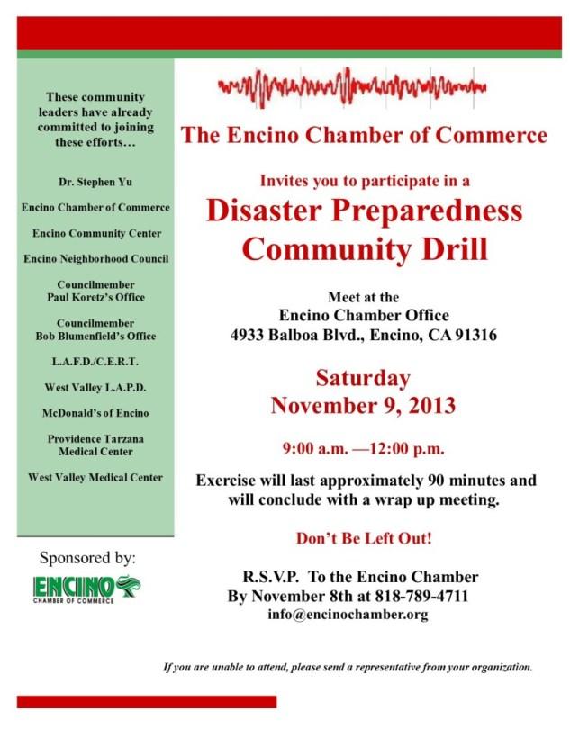 Disaster Preparedness Drill 11-2013