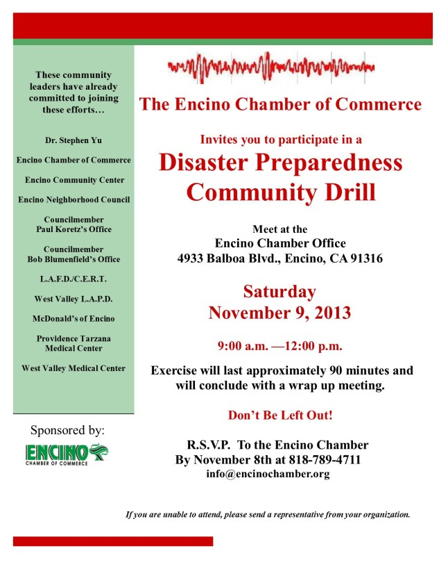 Disaster Preparedness Drill 11-2013