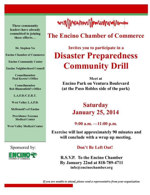 Disaster Preparedness Drill 1-25-14
