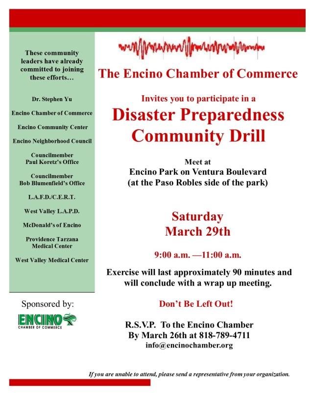Disaster Preparedness Drill 3-29-14