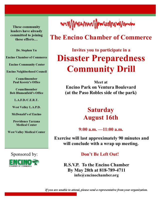 Disaster Preparedness Drill 8-16-14