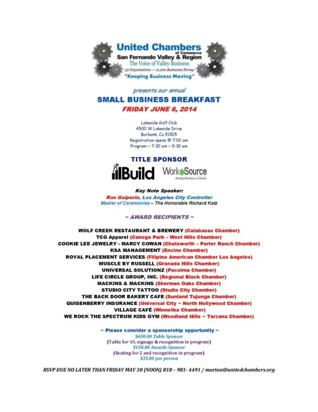 updated Small Business flyer SBB Notice 2014