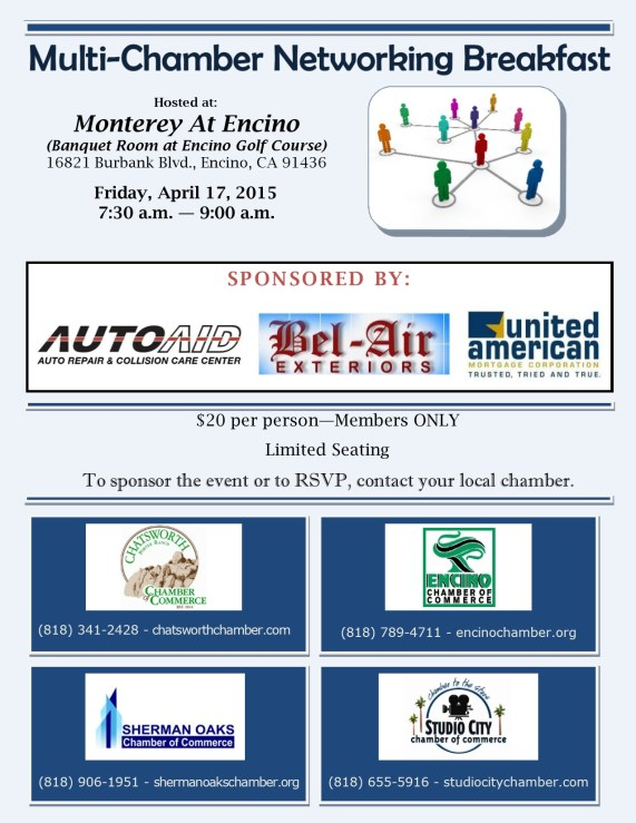 April 2015 MultiChamber Breakfast- SC,SO and E Sponsors