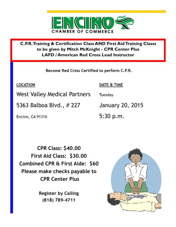 Cpr Training Certification First Aid Trainingencino Chamber