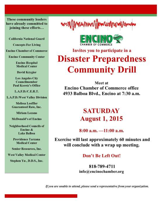 Disaster Preparedness Drill 8-1-2015-B