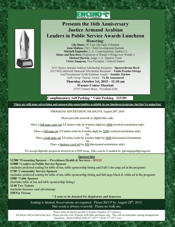 2015 The Justice Armand Arabian flyer w-honorees-B