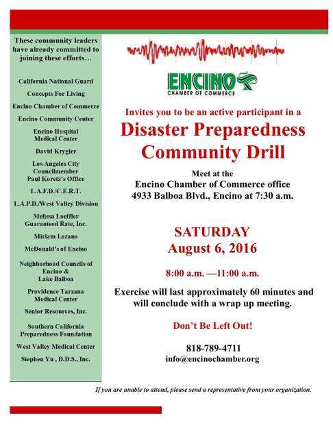 Disaster Preparedness Drill 8-6-2016