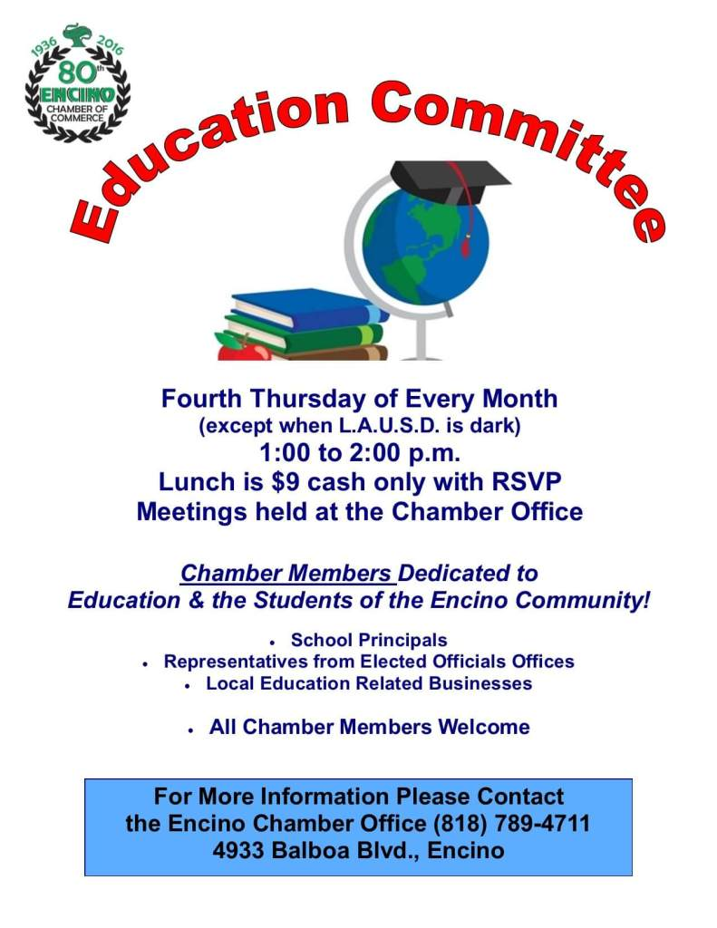 Education Committee Flier Updated 1-2016