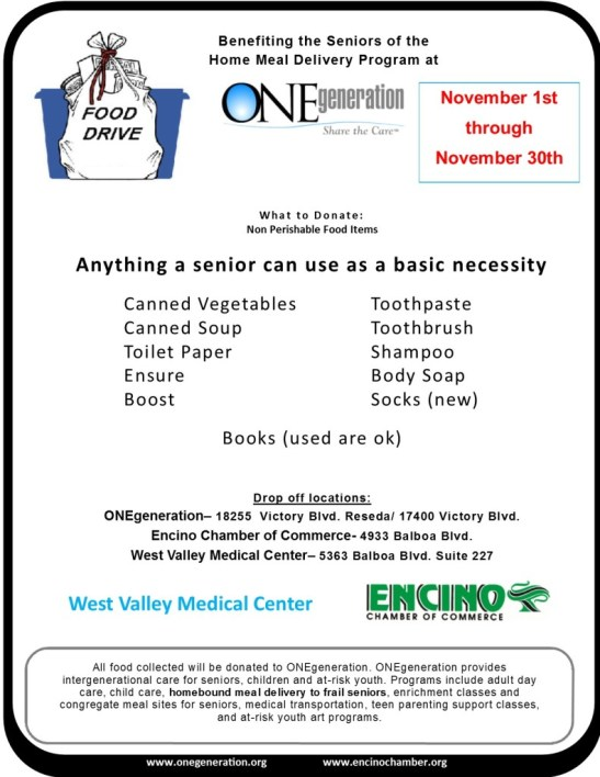 ONEgeneration food drive_Nov 2015
