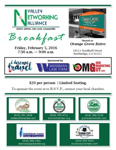 VNA Breakfast - Feb  5 with Sponsors