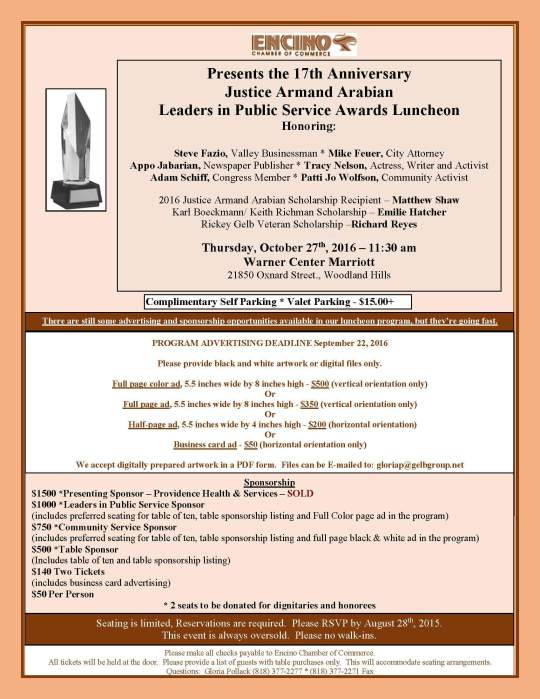 2016 The Justice Armand Arabian flyer-2 w-honorees