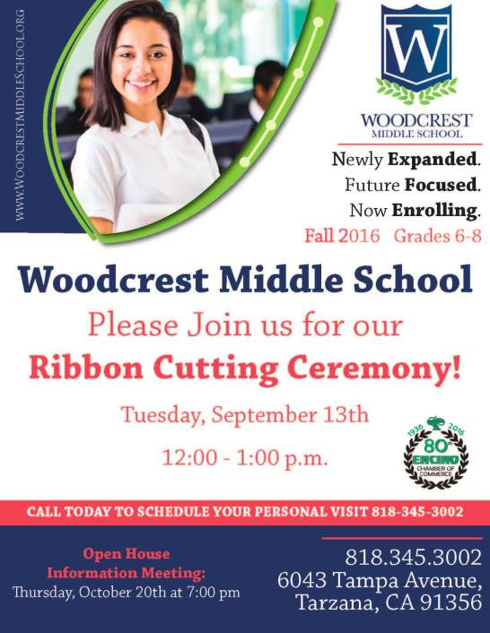 Woodcrest Middle School Ribbon Cutting Flier v6