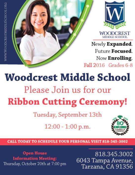 Woodcrest Middle School Ribbon Cutting Flier v6