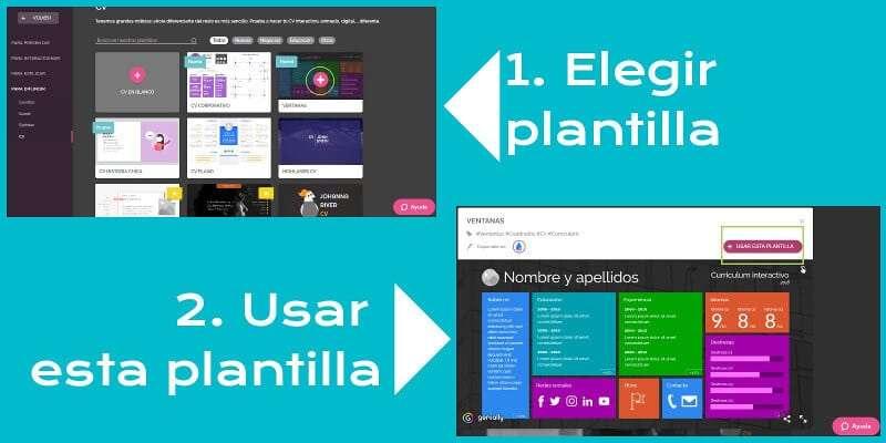 curriculum online 4 seleccionar plantilla