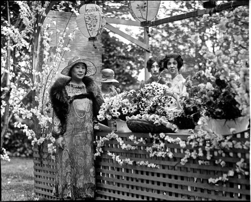 At the same party, the Japanese flower booth. Photo by National Photo Company.