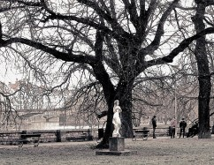 A small park on the Mala Strana side.