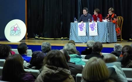 A charla celebrouse na Casa da Cultura de Monforte. EC.