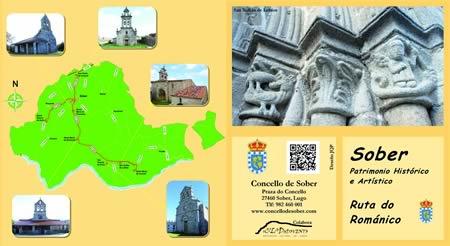 Portada do folleto turístico sobre a Ruta do Románico que vén de editar o Concello de Sober.  (Foto cedida)
