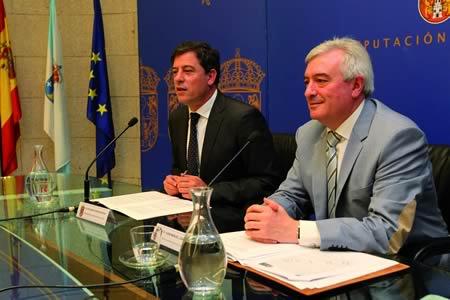 O pasado mes de xuño, o presidente da Deputación de Lugo, José Ramón Gómez Besteiro, e o rector da USC, Juan Manuel Viaño Rey, presentaron o protocolo de colaboración entre ambas institucións para poñer en marcha o Plan de choque para o impulso do Campus de Lugo. Arquivo EC.