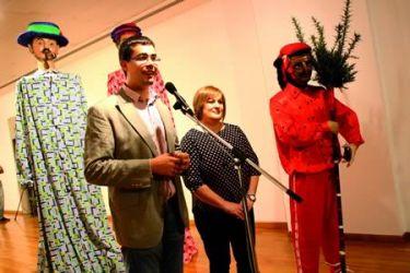 Inauguración da exposición sobre os aspectos etnográficos da romaría da Nosa Señora dos Remedios de A Ermida, no Museo Provincial de Lugo. (Foto cedida).