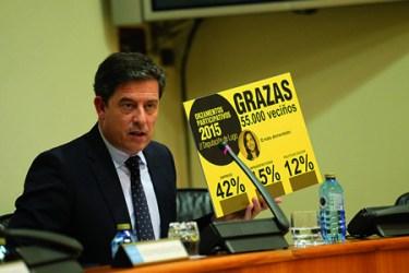 O presidente da Deputación de Lugo, José Ramón Gómez Besteiro, durante a presentación dos Orzamentos Participativos 2015 no Parlamento de Galicia, o pasado 5 de novembro.  GPDL.