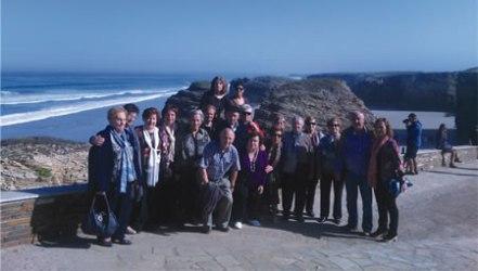 A expedición de Rioseco fixo parada na Praia das Catedrais, na súa viaxe a Ribadeo. (Foto cedida).
