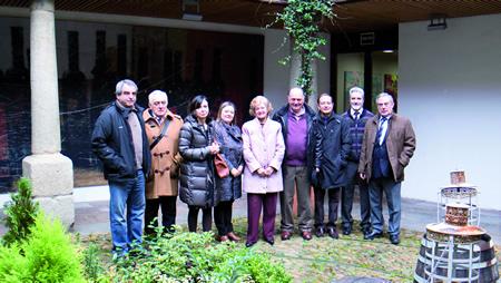 Os promotores da asociación Semente de Monforte, que convoca o I Concurso de Proxectos Empresariais. Arquivo EC.