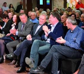 Na súa proclamación como candidato á alcaldía de Monforte, José Tomé estivo acompañado polo secretario xeral do PSdeG-PSOE, José Ramón Gómez Besteiro; o secretario provincial do partido en Lugo, Juan Carlos González Santín; e membros da súa candidatura ás eleccións municipais de maio. EC.