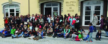 O Encontro Galego-Portugués de Educadores/as pola Paz do ano pasado tivo lugar na localidade portuguesa de Chaves. (Foto cedida: Nova Escola Galega).