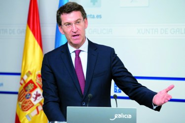 O presidente da Xunta, Alberto Núñez Feijóo, durante a rolda de prensa posterior ao Consello da Xunta do 13 de maio. GPXG.