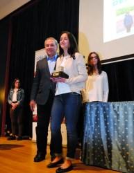 José Tomé entregou a Melania López, do Club Atletismo A Gándara, o premio á mellor promesa feminina. Carla Pardo, do Club Taekwondo Neka, foi finalista nesta categoría. EC