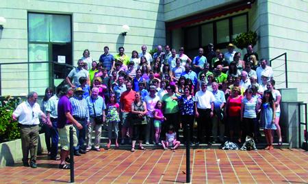 Imaxe de arquivo da última visita dun grupo bretón dentro das actividades de intercambio da Irmandade Sarria-Guerlédan. Arquivo EC.