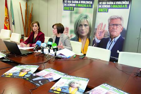 Os periodistas Julia Otero e Pepe Domingo Castaño poñen rostro á campaña da Xunta para o Día Internacional da Eliminación da Violencia de Xénero. GPXG.