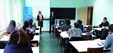 Raquel Arias falou da importancia de xestionar a Ribeira Sacra como destino turístico de calidade na primeira sesión das xornadas sobre SICTED. (Foto cedida).