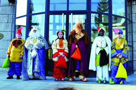 A festa dos Reis ten un especial arraigamento en Bóveda, que adicou unha exposición fotográfica o pasado ano coas mellores imaxes desta tradicional celebración.  Arquivo EC